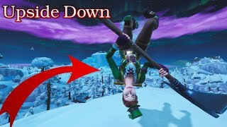 Become Upside Down in Public Playground by Doing this Fortnite Glitch!