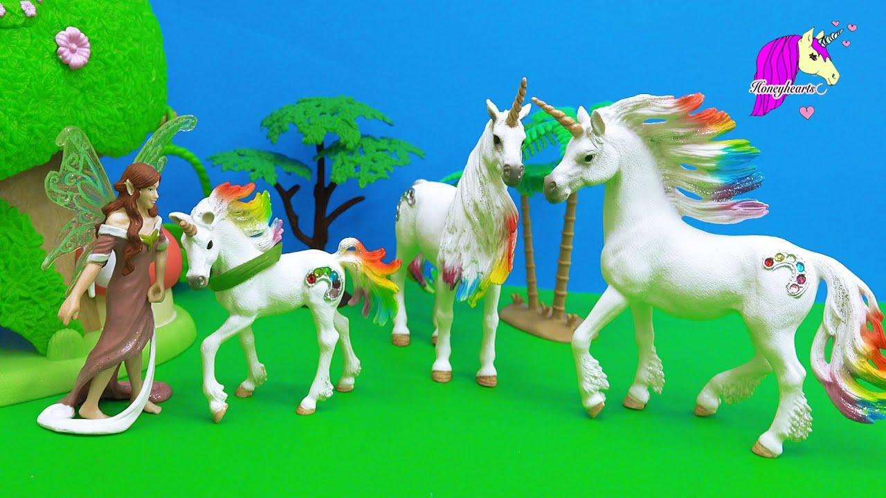 Schleich Fairy Finds Baby Rainbow Unicorn