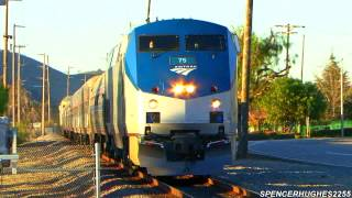 Amtrak Trains in San Juan Capistrano (January 20th, 2013)