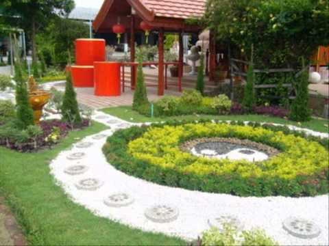 ภาพสวนหย่อมสวยๆ ไอเดียการตกแต่งบ้าน