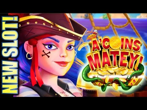★NEW SLOT! DON'T LET THIS BONUS END! ?? ★ A'COINS MATEY & CELESTIAL SUN RICHES KONAMI Slot Machine - 동영상