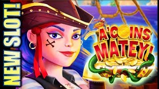 ★NEW SLOT! DON'T LET THIS BONUS END! 😅🙏 ★ A'COINS MATEY & CELESTIAL SUN RICHES KONAMI Slot Machine