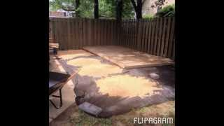 Diy Backyard Lounge- $350- With Deck & Firepit- Napturalnicole.com