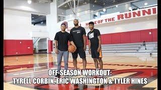Off-Season Workout With Tyrell Corbin, Eric Washington & Tyler Hines!