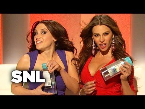 Sofia Vergara and Penelope Cruz Sell Pantene Shampoo  SNL