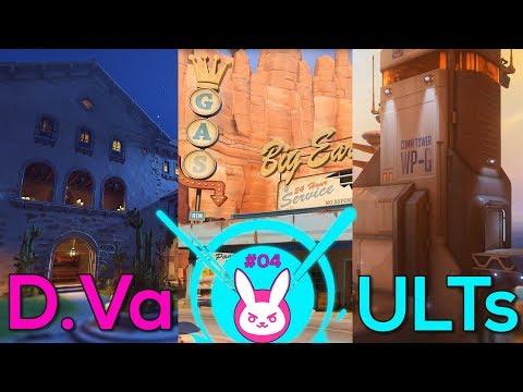 D.Va Ult Spots in ESCORT Maps: DORADO, ROUTE 66 & GIBRALTAR! - Overwatch #32