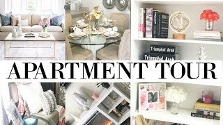 GLAM / MODERN APARTMENT TOUR. LUXURY ON A BUDGET.