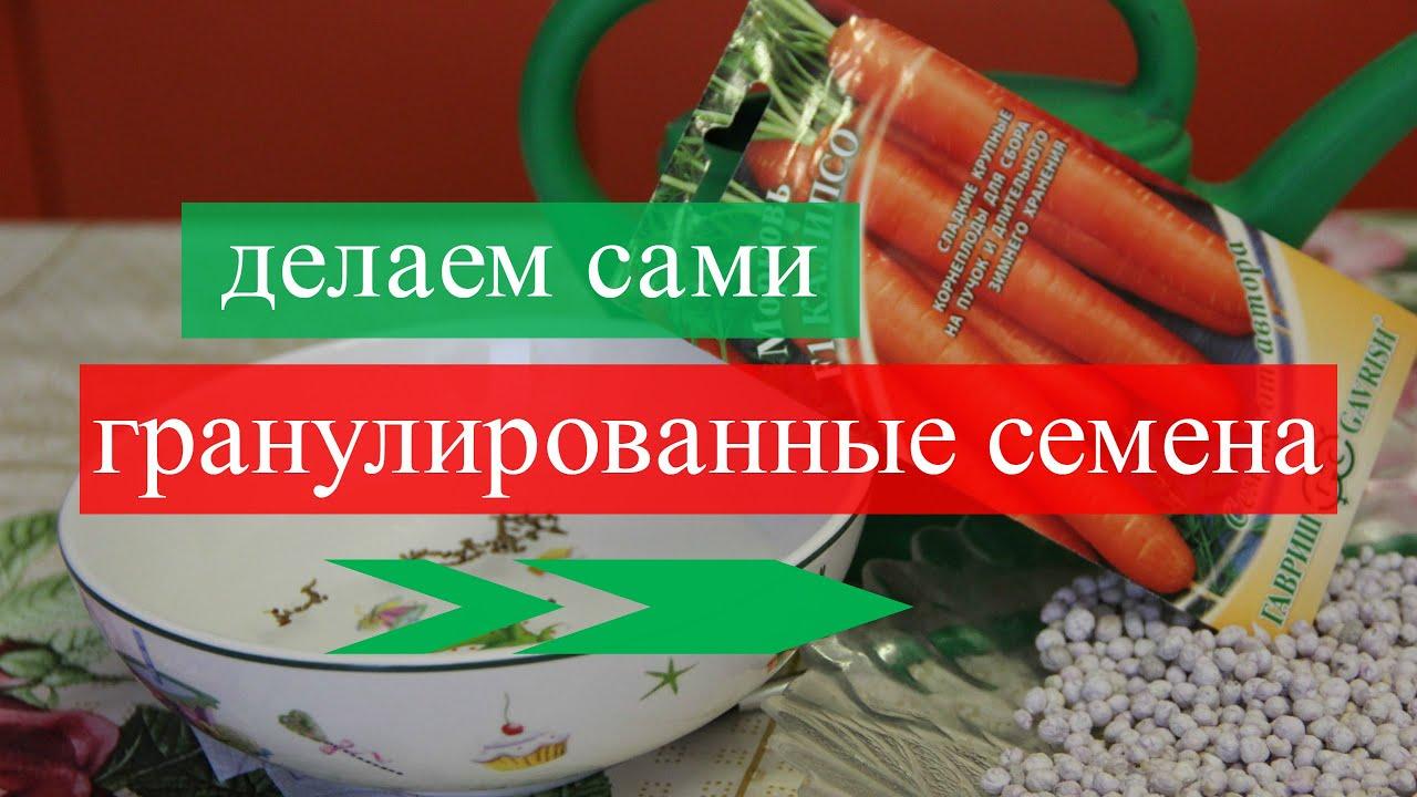 Как сделать гранулированные семена, Или козюли от Юли :-)