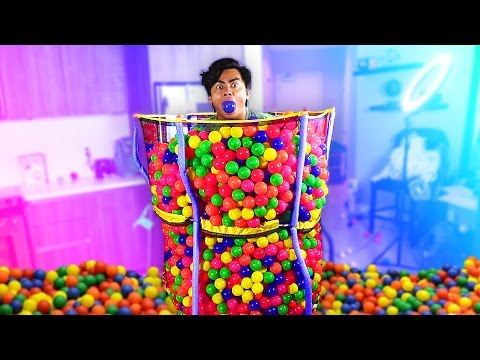 Thumbnail: TRAMPOLINE BALL PIT CANNONBALL!