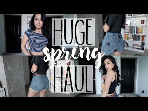 HUGE Spring Clothing Haul   Brandy Melville, Zara, and MORE! from YouTube · Duration:  8 minutes 3 seconds