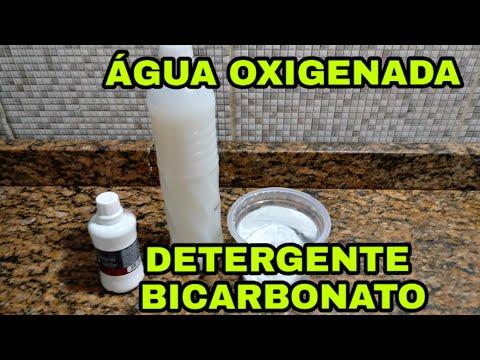 MEU DEUS!!!COMO NÃO FIZ ISSO ANTES😱( Água Oxigenada Detergente Bicarbonato)