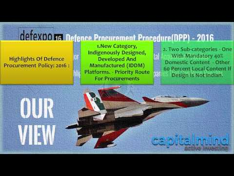 Defence Procurement Policy DPP  2016
