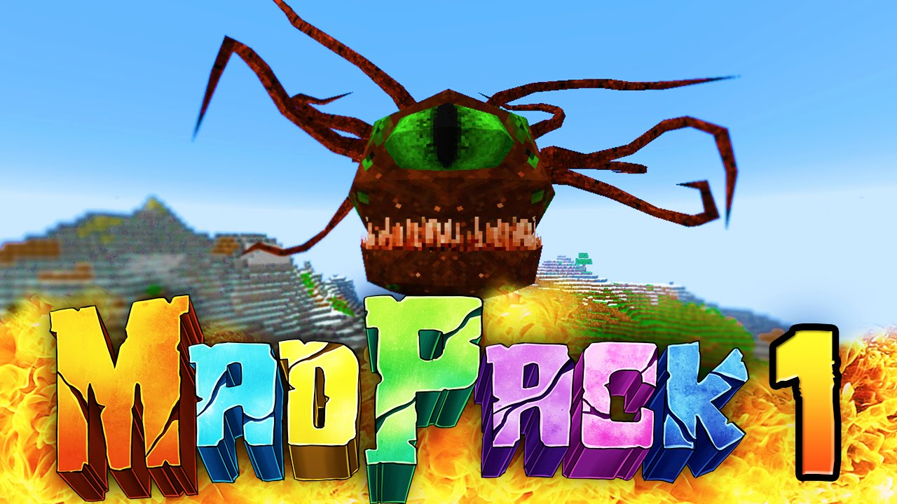 Minecraft MAD PACK 2 THE BEACON OF HOPE Episode 1 First Hideout Hell Battle Madness