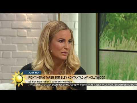 Möt nya svenska Hollywoodhjältinnan! - Nyhetsmorgon (TV4)