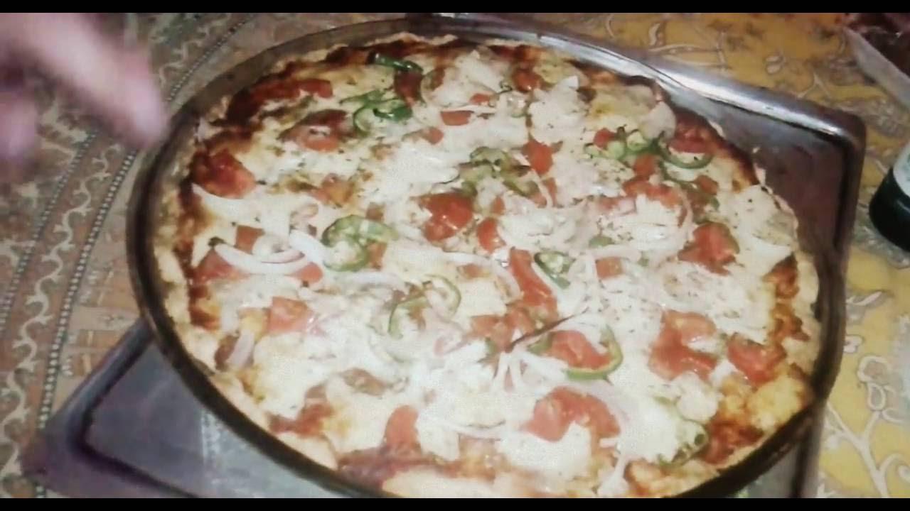receta de pizza casera sin levadura harina leudante