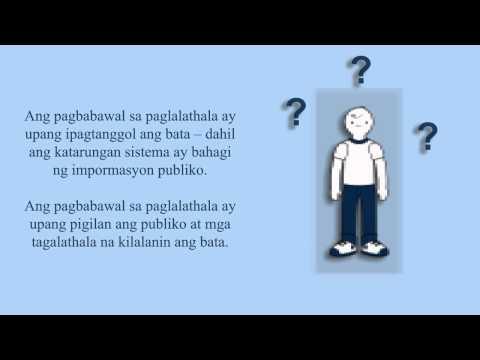 Youth Criminal Justice: Post Sentencing (Tagalog)