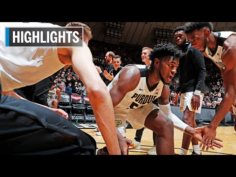 Highlights: Boilermakers Dominate Chippewas | Central Michigan At Purdue | Dec. 28, 2019