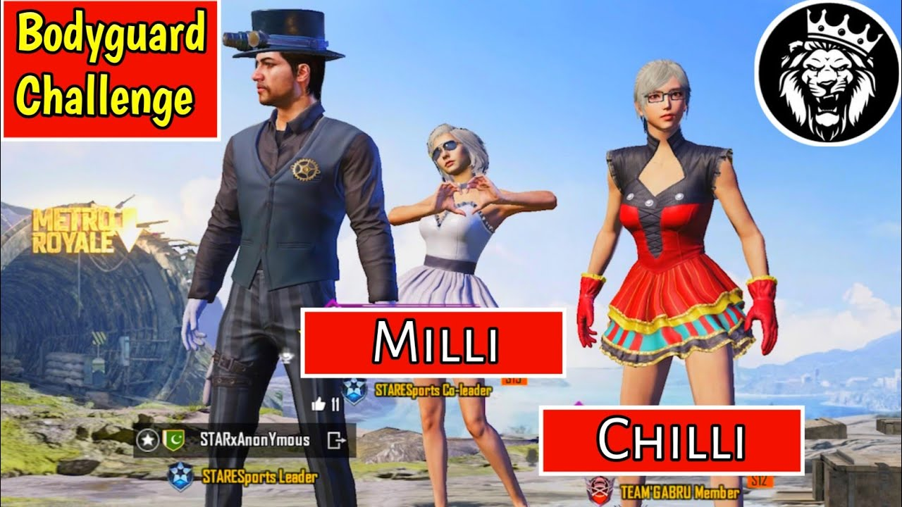 BODYGUARD CHALLENGE / CHILLI - MILLI / Star ANONYMOUS / PUBG MOBILE