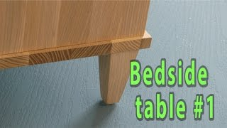 Making bedside tables made of wood. Part №1.
