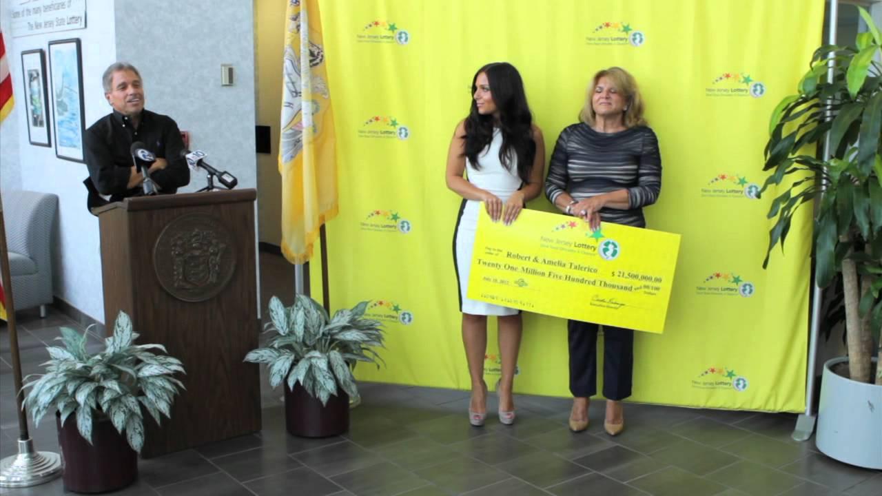 New Jersey Lottery 215 Million Pick 6 Press Conference  YouTube
