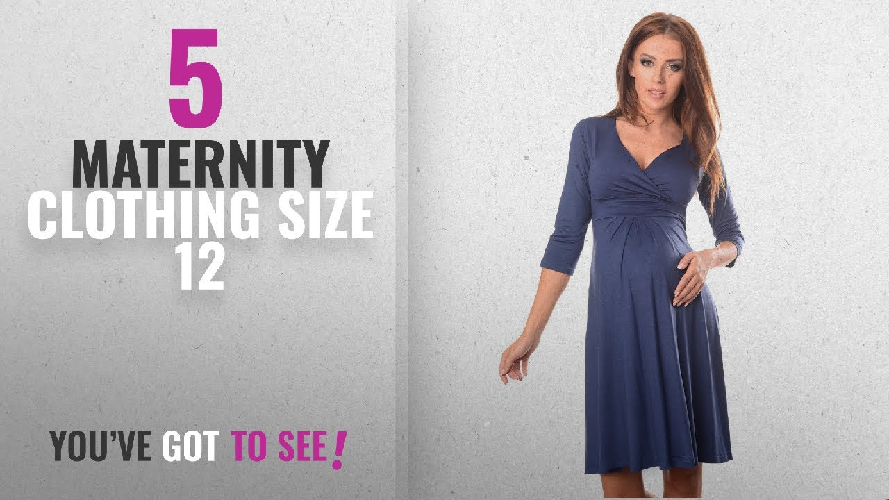 a505ccd0bbcd7 Top 10 Maternity Clothing Size 12 [2018]: Purpless Maternity Classic  Pregnancy Dress Vneck A line