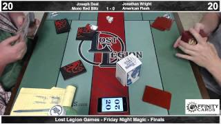 Lost Legion Fnm - Finals - Mono Red Blitz Vs. American Flash - 6/21/13