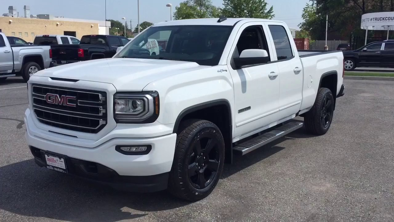 2017 Gmc Sierra 1500 4wd Double Cab Elevation Edition 20 Inch Rims White Oshawa On Stock 171727
