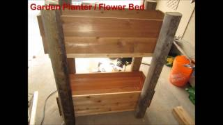 Build A Beautiful Outdoor Garden Planter / Flower Bed In Less Than 3 Hrs.