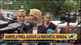Gabriela Firea a ajuns la Parchetul General: Eu vorbesc doar pe bază de documente