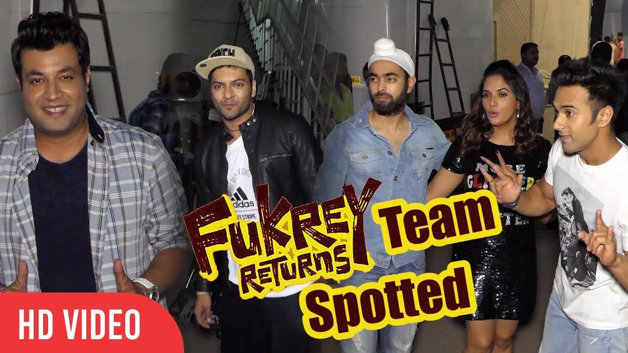 Download Fukrey Returns Team Spotted At Mehboob Studios | Pulkit, Varun, Ali, Richa Chadda, Manjot