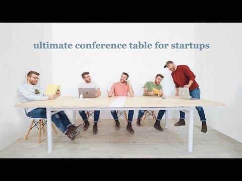 How To Build a Conference Table // Free Plans