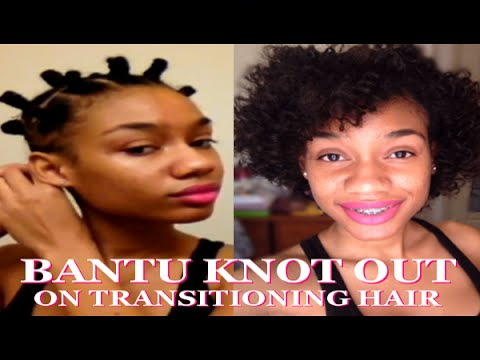 Bantu Knot Out On Transitioning Hair YouTube