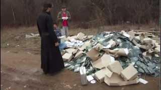 Православные монахи сжигают книги проф. А.И Осипова