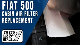 How to Replace Cabin Air Filter Fiat 500