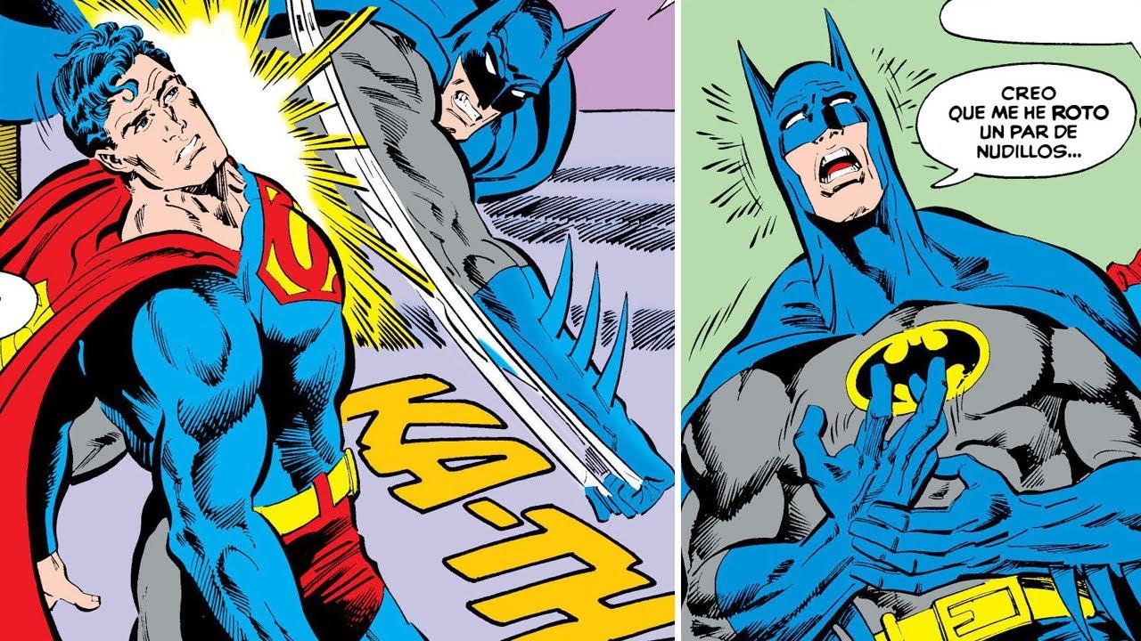 ¿Qué pasaría si BATMAN le da un golpe a SUPERMAN? #Shorts