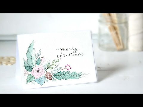 Holiday Cards Tutorial 2017  How To Make Watercolor Christmas Cards