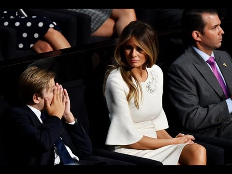 10-Year-Old Barron Trump Yawns Through His Dad