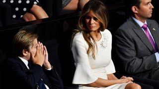 10-Year-Old Barron Trump Yawns Through His Dad