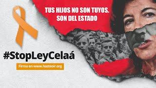El bus #StopLeyCelaá recorre Madrid.
