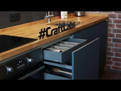 Кухня LOFT C дубовыми фасадами на заказ в Пензе | Craftlabs.ru