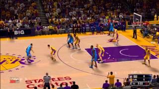 NBA 2K14: LA Lakers vs. OKC Thunder HD Gameplay ft. Kobe Bryant, Kevin Durant, Russell Westbrook