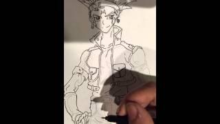 Drawing yugioh 5ds Crow Hogan