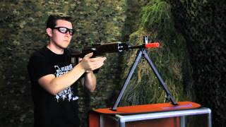 Jing Gong AK Dragonov SVD Sniper Rifle - Video Airsoft Review