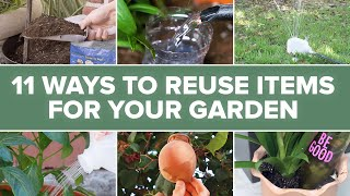 11 Ways To Reuse Items For Your Garden