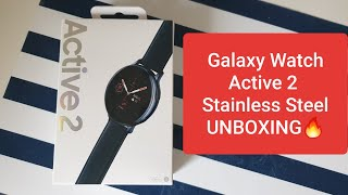 The first Galaxy Watch Active 2 Unboxing on YouTube!!! (40mm Stainless Steel)