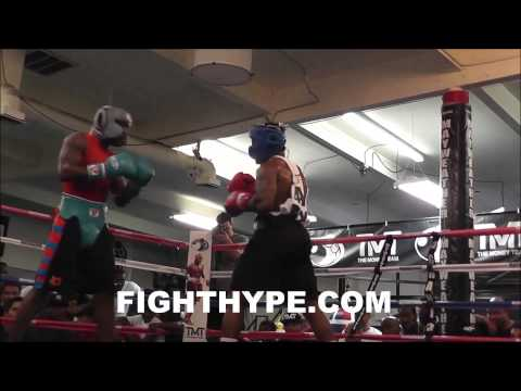 """ADRIEN BRONER TRADES WORDS WITH J'LEON LOVE DURING SPARRING SESSION: """"YOU CAN GET IN NEXT"""""""