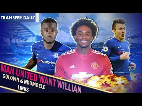 MAN UNITED TO MAKE 60mil WILLIAN BID? || ROMAN WANTS GOLOVIN? || Chelsea Transfer Daily