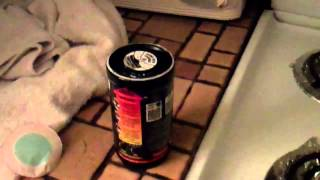 Trying Out a Hot Can Self Heating Beverage Cocoa