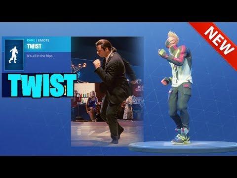 "*NEW* JOHN TRAVOLTA ""TWIST"" DANCE EMOTE!! PULP FICTION - FORTNITE BATTLE ROYALE"