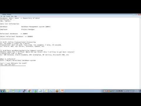 IBM Informix DBA Tutorials for Beginners